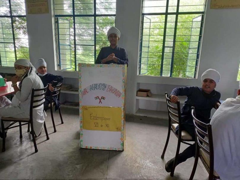 Activity Extempore held in Akal Academy Bhunsla, Kaithal