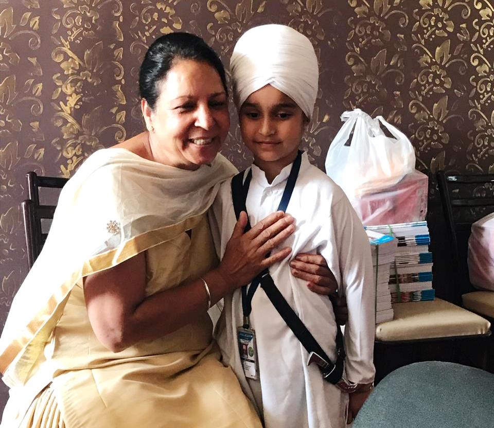 Sdn. Jaspal Kaur Rai visited Akal Academy, Ghugg, Jalandhar  to meet Ms. Amitoj Kaur