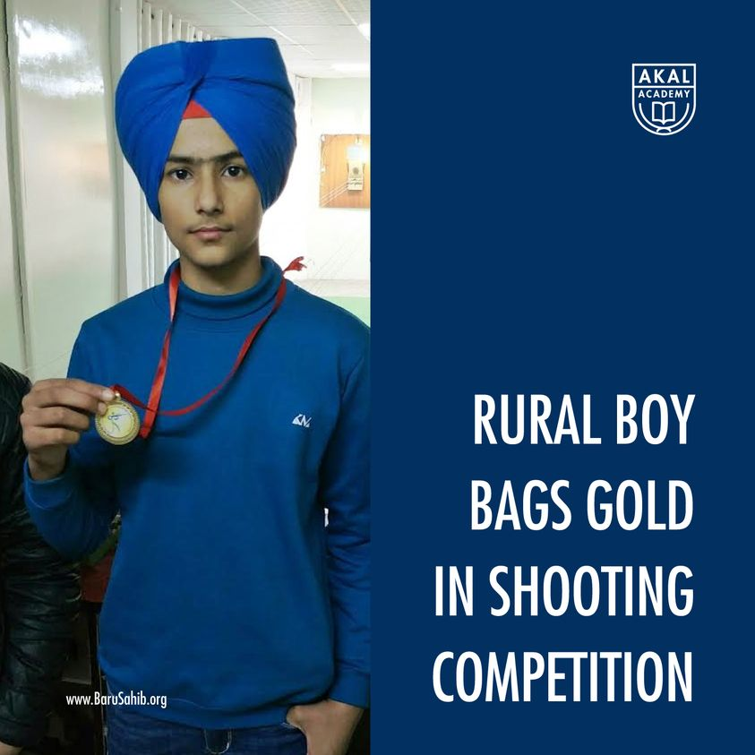 Rural Boy Bags Gold in Shooting Competition