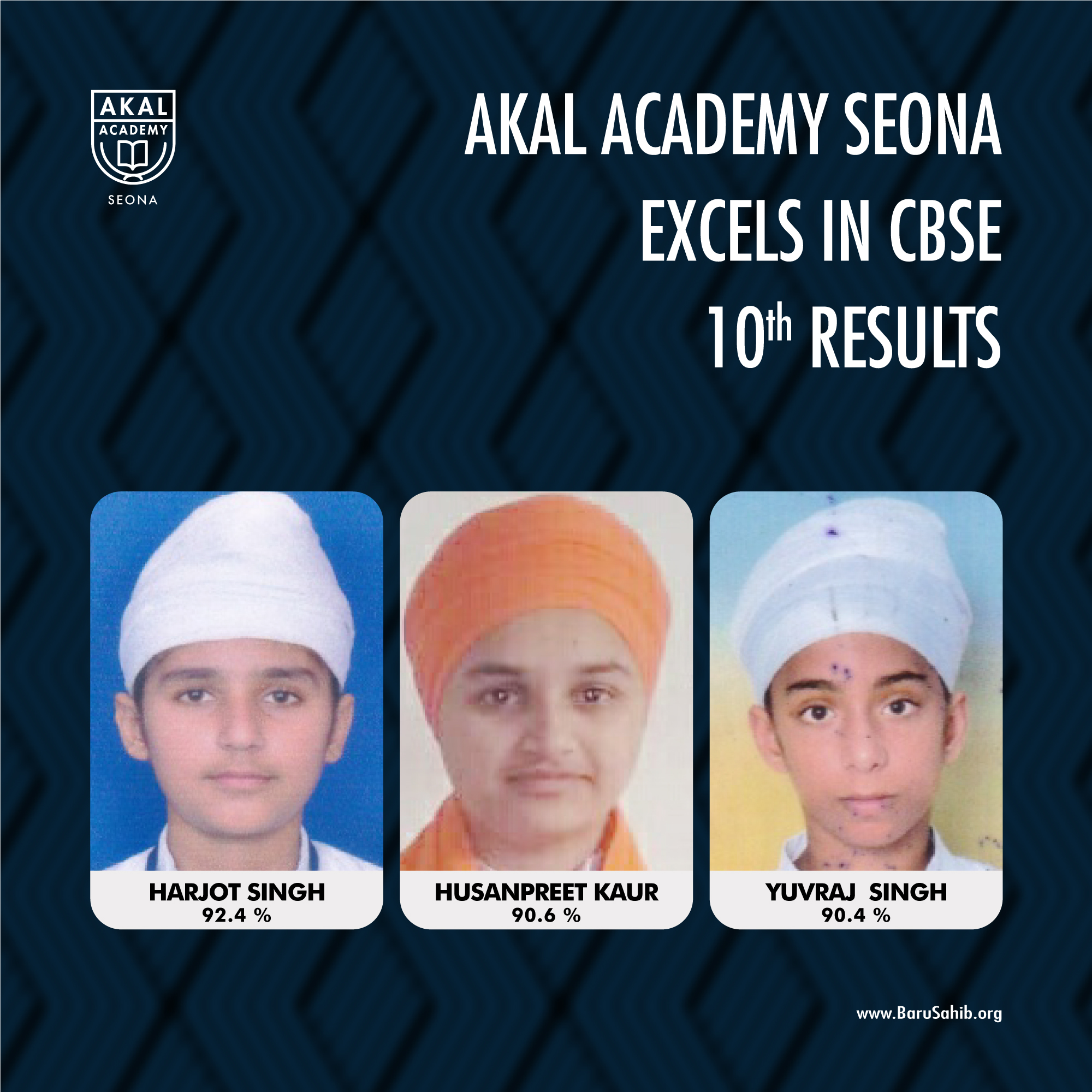 Akal Academy Seona Excels in CBSE 10th Results